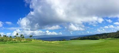 Golf Course Digital Art - Kapalua Golf In Maui by Stacia Blase