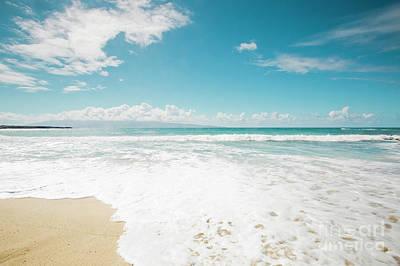 Kapalua Beach Honokahua Maui Hawaii  Print by Sharon Mau
