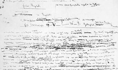 Karl Marxs Manuscript For Das Kapital Print by Everett