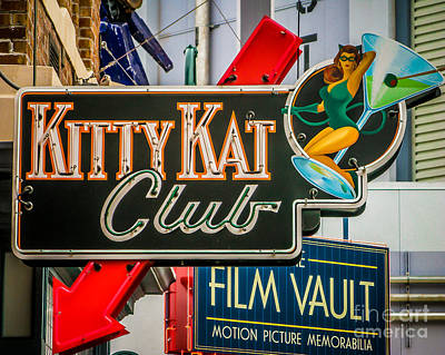 Kat Club Print by Perry Webster