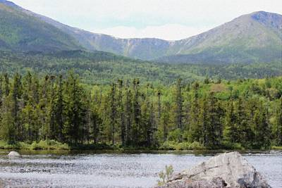 Mount Katahdin Painting - Katahdin At Sandy Stream Pond by Levi Soucy