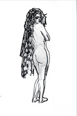 Erotic Photograph - Kate In Nude Fine Art Drawings Nude Girl Prints 1179.01 by Kendree Miller