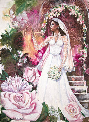 Kate Middleton Painting - Kate The Princess Bride by Patricia Allingham Carlson
