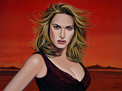 Kate Winslet Print by Paul Meijering