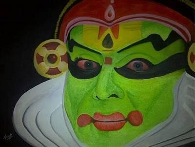 Indian Dance Drawing - Kathakali - Indian Dance-drama by Tina  Albert