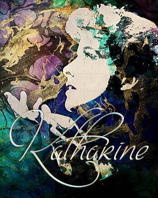 Digital Art - Katharine Hepburn - Dreams by Darlanne