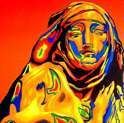 Satue Painting - Katharine - St.katharine Statue by Khairzul MG