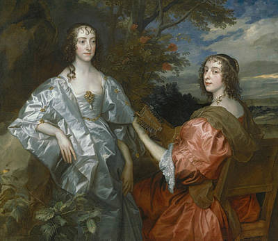 Katherine, Countess Of Chesterfield, And Lucy, Countess Of Huntingdon Print by Anthony Van Dyck