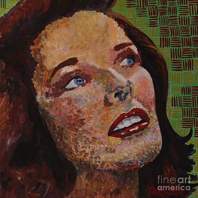 Katherine Hepburn Painting - Katherine Hepburn Portrait by Robert Yaeger