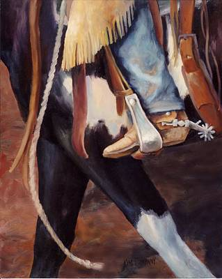 Cowboy Painting - Katies Paint Mare Western Art Cowboy Painting by Kim Corpany