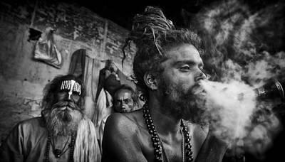 Front View Photograph - Katmandu Smoking by David Longstreath