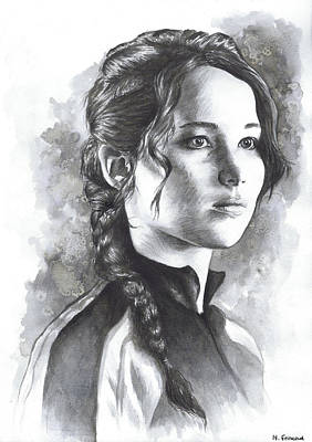 Katniss Print by Nienke Feirabend
