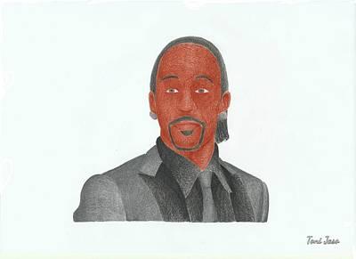 Voice Actor Drawing - Katt Williams by Toni Jaso