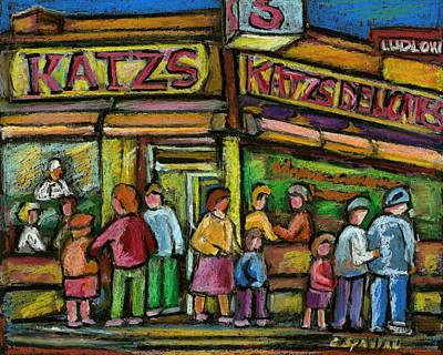 Katzs Deli New York City Print by Carole Spandau