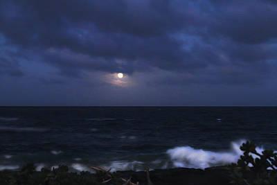 Kauai Moon At Poipu Original by Bonnie Follett