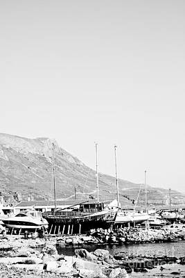 Strong Contrasts Photograph - Kavonisi Harbour by Gabriela Insuratelu