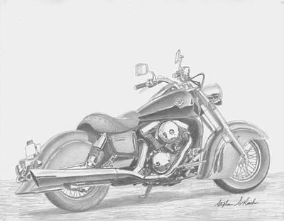 Kawasaki Drifter 1500 Motorcycle Art Print Original by Stephen Rooks
