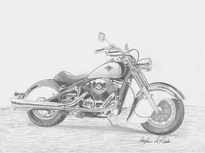 Kawasaki Drifter 800 Motorcycle Art Print Original by Stephen Rooks