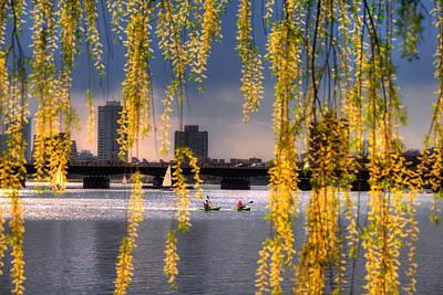 Spring Scenes Photograph - Kayaking On The Charles River - Boston by Joann Vitali