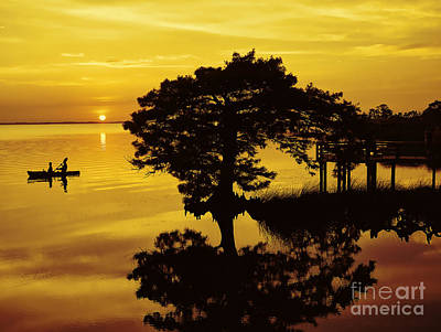 Boardwalk Photograph - Kayaking At Sunset 2 Obx by Jeff Breiman