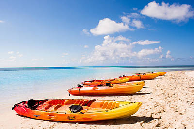 Water Photograph - Kayaking In Paradise by Parker Cunningham