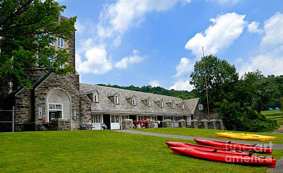 Kayaks At Boat House North Park Pittsburgh Pennsylvania Print by Amy Cicconi