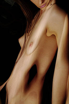 Female Nude Abstract Mirrors Flowers Photograph - Kazj0102 by Henry Butz