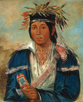 George Catlin Painting - Kee-mo-ra-nia No English A Dandy by George Catlin