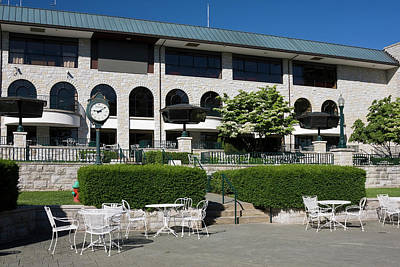 Keeneland Racetrack Grandstand Print by Sally Weigand