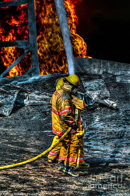 Fireground Photograph - Keep Fire In Your Life No 8 by Tommy Anderson