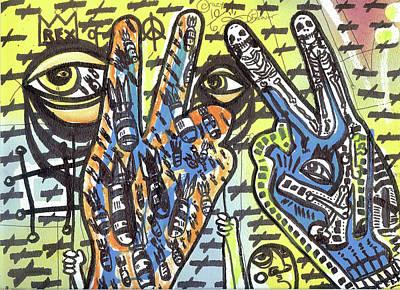Follow Your Bliss Mixed Media - Keep Pushing 4 Peace by Robert Wolverton Jr