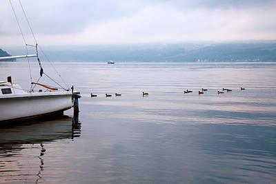 Keuka Lake Photograph - Keep Your Ducks In A Row by Steven Ainsworth