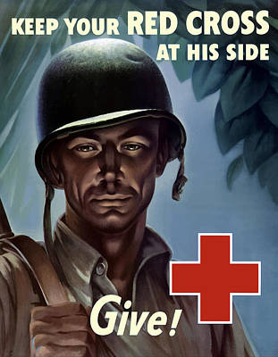 Cross Mixed Media - Keep Your Red Cross At His Side by War Is Hell Store