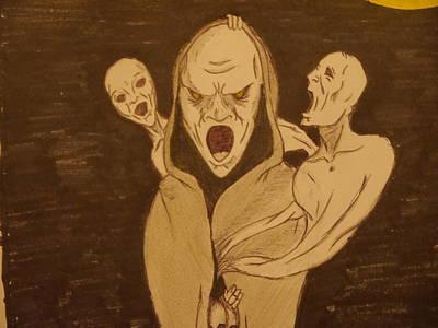 Joshua Massenburg Drawing - Keeper Of Souls by Joshua Massenburg