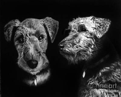 Keeper The Welsh Terrier Original by Peter Piatt