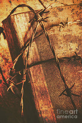 Barbed Wire Photograph - Keepers Of The Oath by Jorgo Photography - Wall Art Gallery