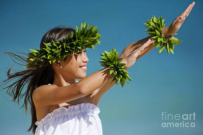 Hula Girl Art Photograph - Keiki Hula by Ron Dahlquist - Printscapes