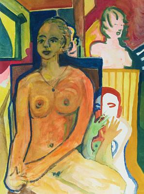 Modesto Painting - Keira En Cage by James Christiansen