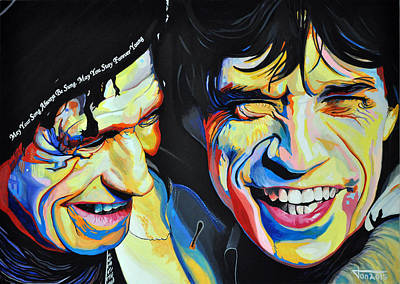 Keith Richards And Mick Jagger Original by Ton Peelen