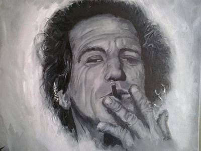 Keef Painting - Keith Richards by Brendon Foxe