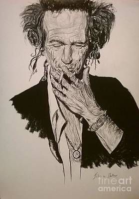 Keith Richards Drawing - Keith Richards by Fabrisi Matteo