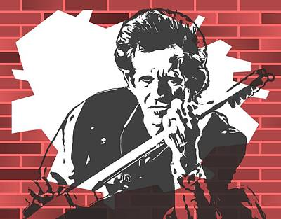 Keith Richards Digital Art - Keith Richards Graffiti Tribute by Dan Sproul