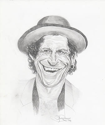 Keith Richards Drawing - Keith Richards by Hay Rouleaux