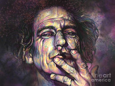Rolling Stones Digital Art - Keith Richards by Julianne Black