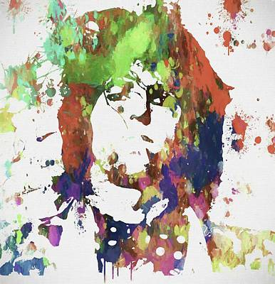 Mick Jagger Mixed Media - Keith Richards Paint Splatter by Dan Sproul