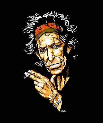 Keith Richards Digital Art - Keith Richards - The Rolling Stones by GOP Art