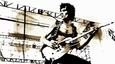 Keith Richards Mixed Media - Keith Richards - Rolling Stones by Ian Gledhill