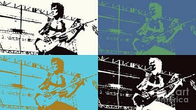 Keith Richards Mixed Media - Keith Richards - Rolling Stones -pop Art by Ian Gledhill