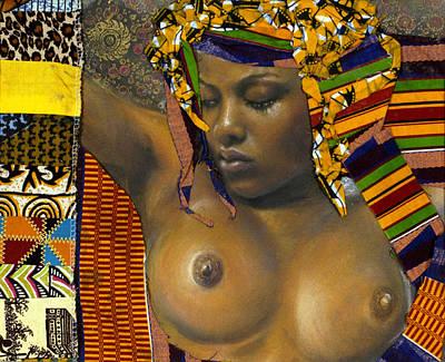 African-american Mixed Media - Kenji by Gary Williams