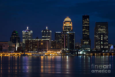 Louisville At Night Print by Andrea Silies